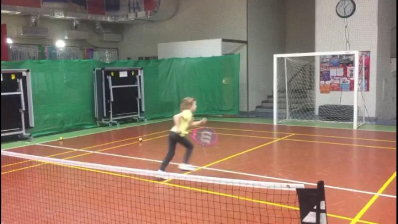 Развитие тактики игры слёта у детей по программе TENNIS 2x5