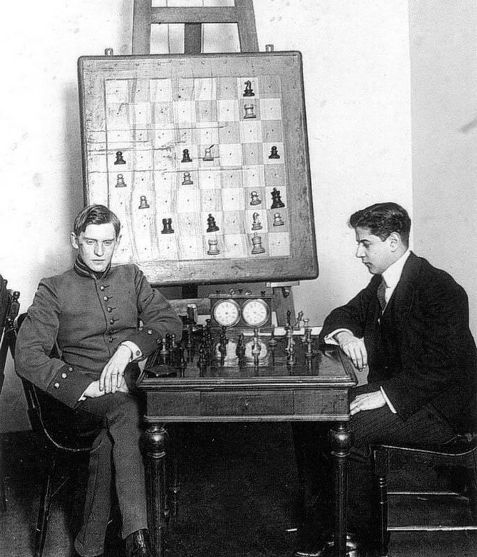 Алехин и Капабланка, Санкт–Петербург, 1914 год.