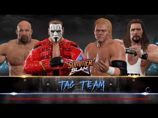 WWE 2K17 Tag Team Match. Goldberg & Sting VS Sid Viсious & Kevin Nash