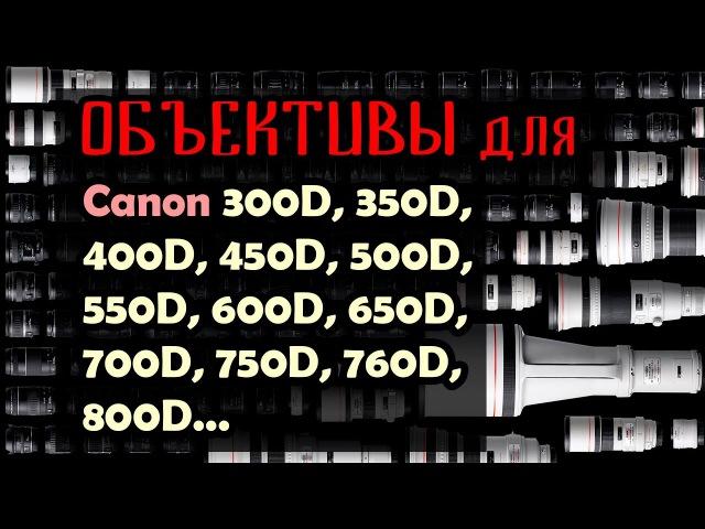 Что выбрать? Объективы для Canon 600D, 700D, 800D