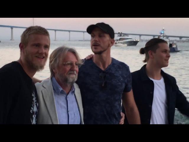 Show Creators Cast greet fans at Vikings Funeral San Diego Comic Con 2017