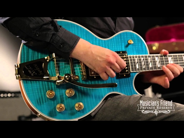 Gibson Les Paul Supreme Florentine With Bigsby Tremolo Electric Guitar Caribbean Blue