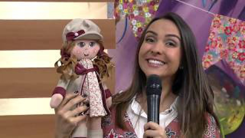Boneca Laurinha em Feltro por Cláudia Crestani - 23/06/2017 - Mulher.com - P1/2