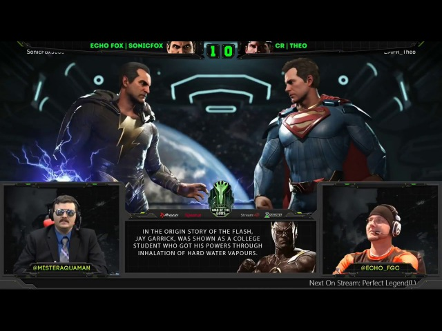 Injustice 2 - WOTG - SonicFox (Black Adam, Deadshot) Vs Theo (Superman) - HYPE