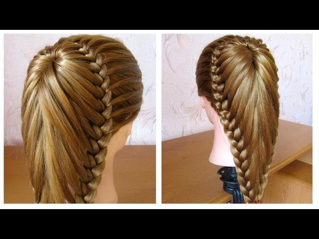 Coiffure avec tresse 💜 Belle coiffure facile à faire cheveux long / mi long 💜 Coiffure pour fille
