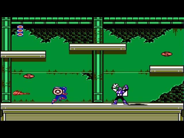 Captain America NES - Прохождение (Капитан Америка Dendy, Денди - Walkthrough)