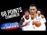 Russell Westbrook, Carmelo Anthony &amp Paul George 68 Pts Combined 2017.10.22 vs TWolves!
