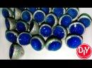 Бусины из полимерной глины с эпоксидной смолой и голографическим пигментом/DIY/Мастер класс