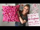 Cómo hacer Cojines de Flores decora con poco dinero Pillow diy Pillow Flower