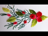 ВЫШИВКА РОЗЫ РОКОКО     EMBROIDERY ROSES ROCOCO Bullion stitch