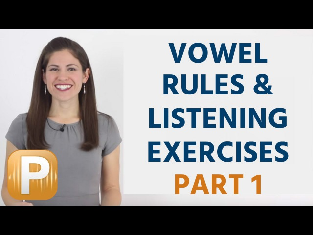 English Pronunciation Listening Exercises Vowels Part 1
