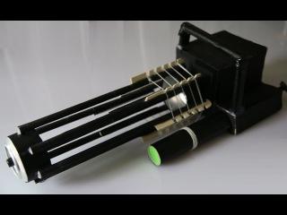 How to make a Paper Gun That Shoots 60 Rubber Bands - Gatling Gun