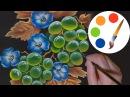 🍇 🍇 🍇 One Stroke, How to Paint Grapes,🍇 🍇 🍇 irishkalia