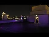 Перформанс «Ад и рай внутри человека» на крыше Музея Парка Горького