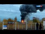 В Сети появилось видео пожара на заводе