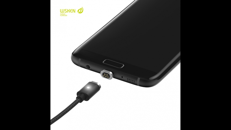 Metal Magnetic Micro USB X-Cable Charge Cable For iPhone Samsung WSKEN Mini 2