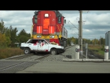Инсценировка ДТП на жд переезде в Омске