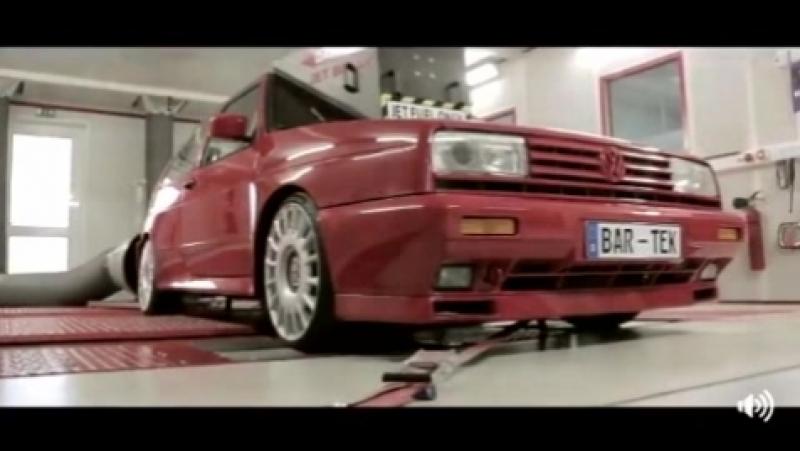 Rallye Golf 2 G60 на монороликовом мощностном колесном стенде MSR 500