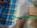 Рубашка клетка планка флизелин раскрой