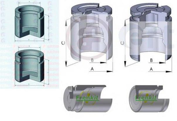 Поршень, корпус скобы тормоза для AUDI V8 (44_, 4C_)