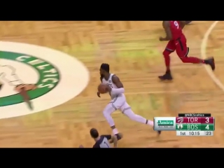 Brown to Tatum on the fast break!