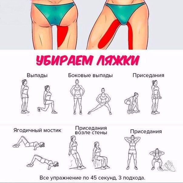 как похудеть в ляшках упражнения