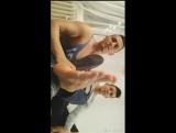 Two hot boys showing their sweaty feet
