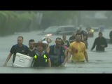 Historic Floods Hit Houston as Hundreds Rescued from Water NBC Nightly News