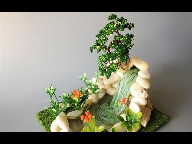 ABC TV | How To Make A Bonsai Tree And Waterfall Miniature - Craft Tutorial 3