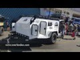 composite walled (no wood) teardrop trailer by Overland Explorer Offroad Expo 2016