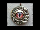 Polymer Clay Dragon Eye Pendant Part 1