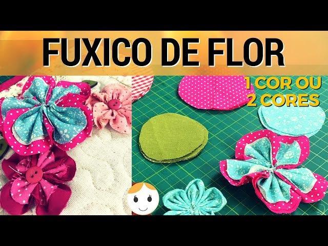 COMO FAZER FUXICO FLOR DE UMA OU DUAS CORES 2 DE 4 | COSTURA INICIANTE | DRICA TV