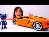 pJ Masks oyuncakları! Cat Boy ve Emir araba yarışı yapıyor. #erkekçocukvideoları