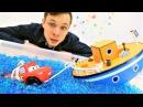 Видео с игрушками: Маквин (мультфильм Тачки), самолёт и корабль! Кто быстрее? Игры в машинки.
