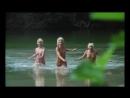 0056 ENF -Three nudists girls bathe naked in the lake - Три голые девушки нудистки купаются в озере.