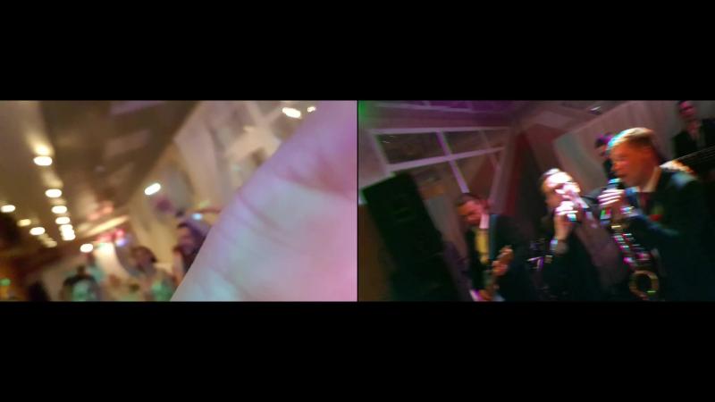 Сергей и Наталья Ершовы. (Фокус пропал со второй камеры,так что не ругайте меня).Музыкальная свадебка 20.07.2017. Группа CD band