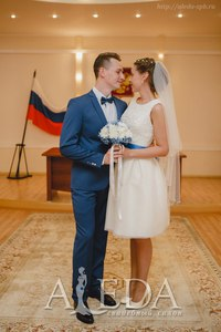 Наша 👰💍#невестаАледа #aleda_bride Ксения Осипова в платье  👗 Алана😍 #gabbiano