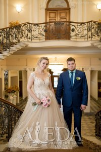 Наша 👰💍#невестаАледа #aleda_bride Людмила Киль в платье  👗 Тиволи😍 #gabbiano