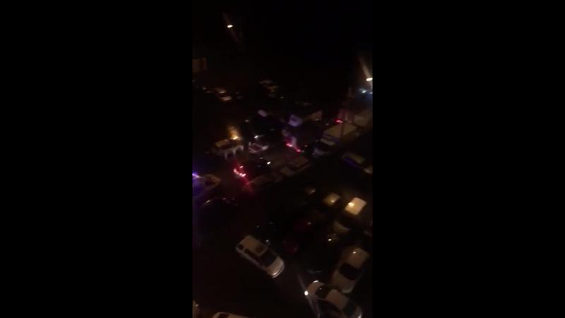 Экстренные службы не могут проехать к пожару в Новой Трёхгорке