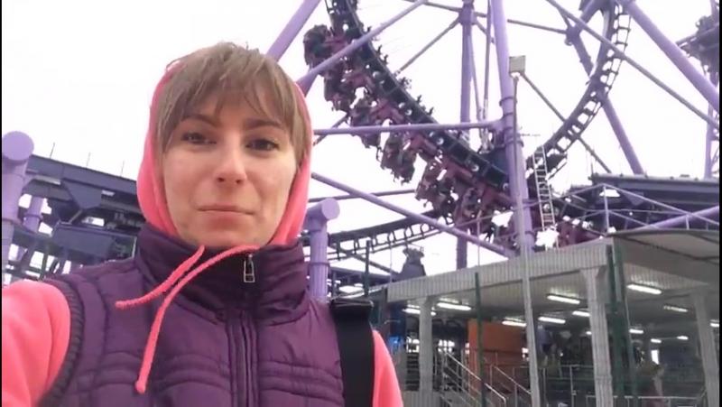 Поломка атракциона Квантовый скачок в Сочи парке 12 ноября 2017 года