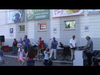 31.07.2015 ,концерт возле супермаркета АРБАТ на день поселка Московка-2 и день города
