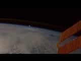 Яркий болид с борта Международной космической станции!