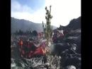 Красота извержения вулкана.