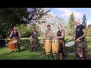 Clann an Drumma Scotland's premiere tribal band playing Bizzy Lizzy at Scone Palace April 2017