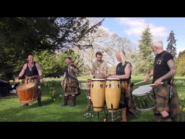 Clann an Drumma, Scotlands premiere tribal band, playing Bizzy Lizzy at Scone Palace, April 2017