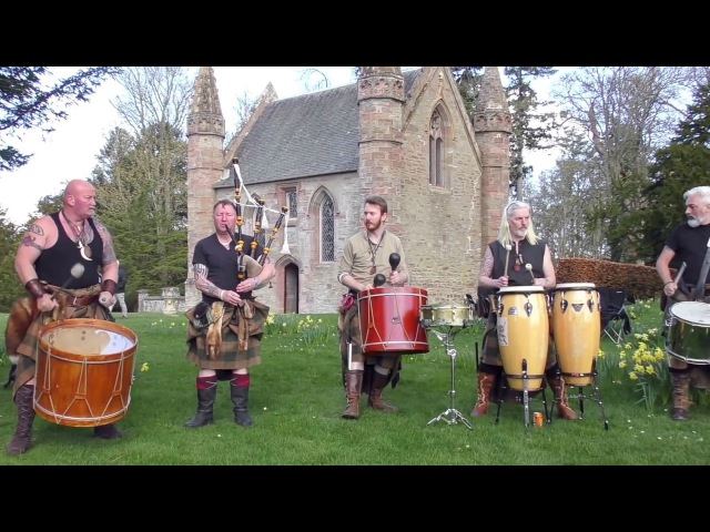 Clann an Drumma with Stormhag Jigs - tribal drumming from performance in Scone Palace, Scotland