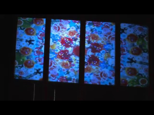 Rear Projection on Glass Windows using DigiDisplay Film, пленка обратной проекции
