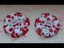 Резиночки из репсовой ленты 3 варианта с картинкой Канзаши Мастер класс