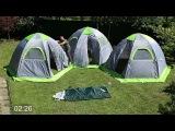 Установка комплекса из трех туристических палаток ЛОТОС 5 Универсал Спорт