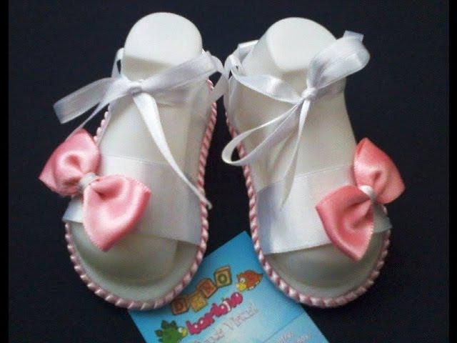 Sandalias para bebe en Foami y Cintas